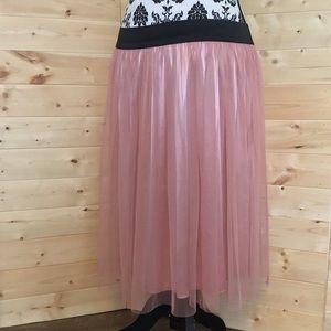 {Lush} Tulle Lined Skirt